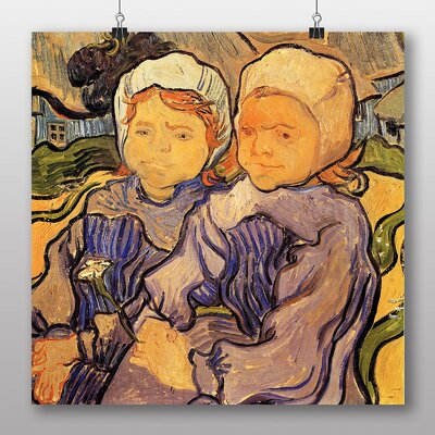 Big Box Art 'Two Children' by Vincent Van Gogh Art Print