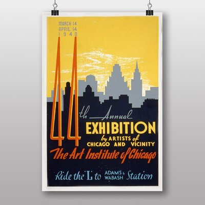 Big Box Art Exhibition No.50 Vintage Advertisement
