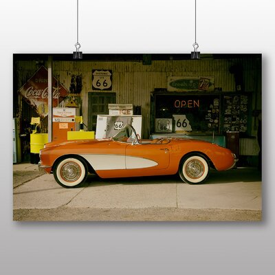 Big Box Art Vintage Classic Car No.12 Photographic Print Wrapped on Canvas