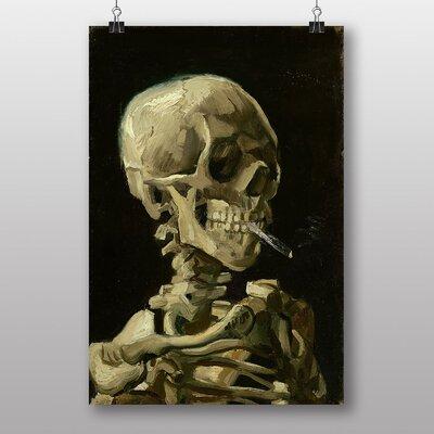 Big Box Art Cigarette with Skull by Vincent Van Gogh Art Print