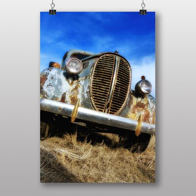 Big Box Art Vintage Classic Car Rusted No.6 Photographic Print
