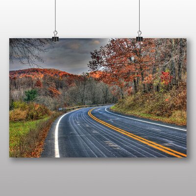 Big Box Art Wisconsin Road Through Forest USA Photographic Print