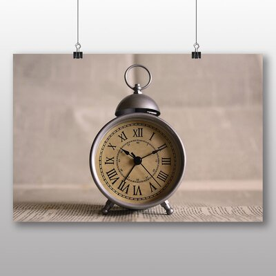 Big Box Art Vintage Clock Photographic Print on Canvas