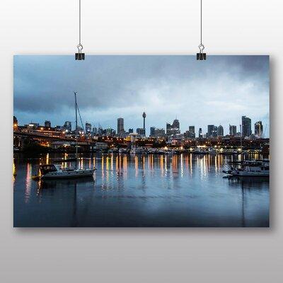 Big Box Art Sydney Harbour Australia No.10 Photographic Print Wrapped on Canvas