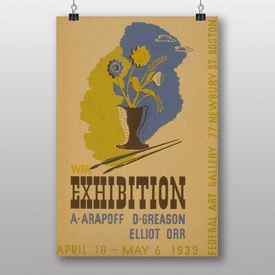 Big Box Art Exhibition No.10 Vintage Advertisement