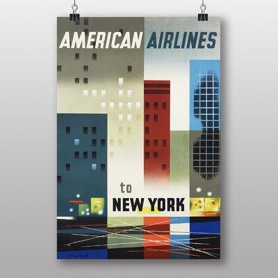 Big Box Art Vintage American Airlines to New York Vintage Advertisement