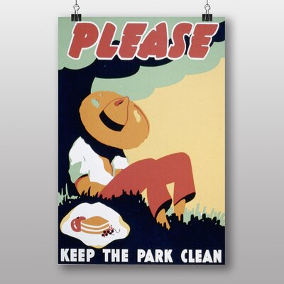 Big Box Art Keep The Park Clean Vintage Advertisement