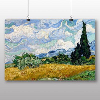 Big Box Art 'Wheat Field with Cypresses' by Vincent Van Gogh Art Print