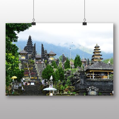 Big Box Art Temple of Besakih Bali Indonesia Photographic Print Wrapped on Canvas