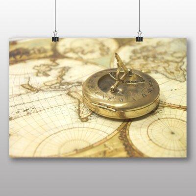Big Box Art Vintage Compass and Map Photographic Print