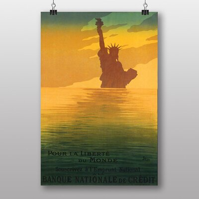 Big Box Art Statue of Liberty Vintage Advertisement