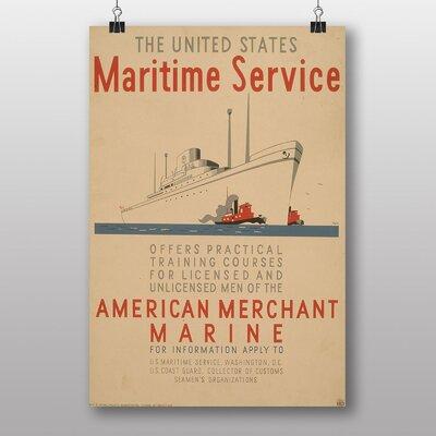 Big Box Art Maritime Service No.1 Vintage Advertisement