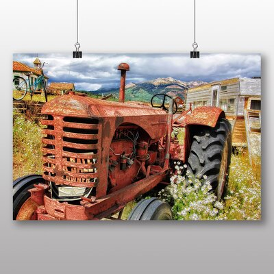 Big Box Art Vintage Rusted Tractor Photographic Print on Canvas