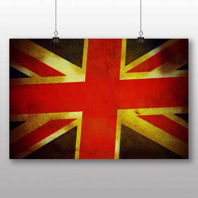 Big Box Art Vintage Union Jack Flag Graphic Art