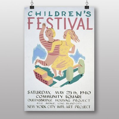 Big Box Art Childrens Festival Vintage Advertisement