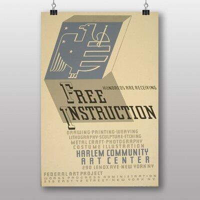 Big Box Art Free Instruction Vintage Advertisement