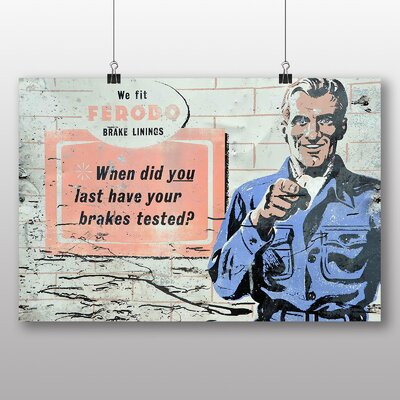 Big Box Art 'Vintage Garage Sign' Vintage Advertisement