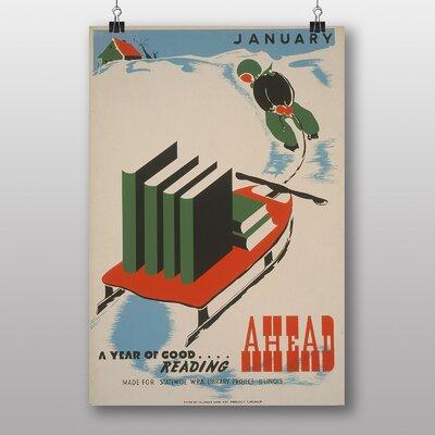 Big Box Art Ahead Vintage Advertisement