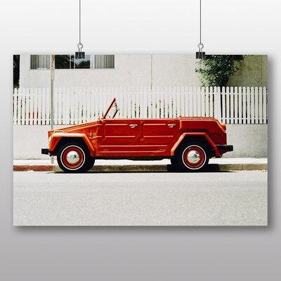 Big Box Art 'Vintage Red Car' Photographic Print