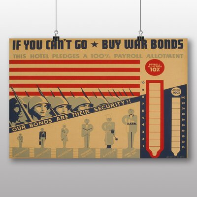 Big Box Art Buy War Bonds Vintage Advertisement