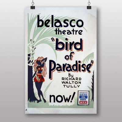 Big Box Art Bird of Paradise Vintage Advertisement