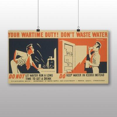 Big Box Art Dont Waste Water No.3 Vintage Advertisement