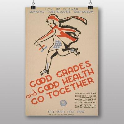 Big Box Art Good Grades and Good Health Vintage Advertisement