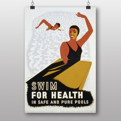 Big Box Art Swim for Health Vintage Advertisement
