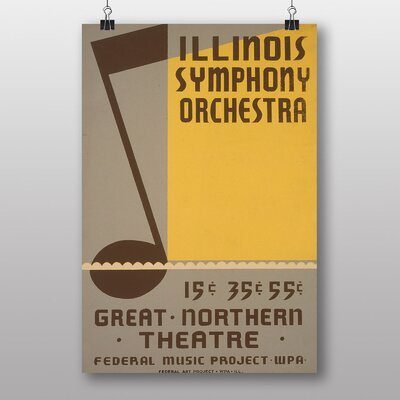 Big Box Art Illinois Symphony Orchestra Vintage Advertisement