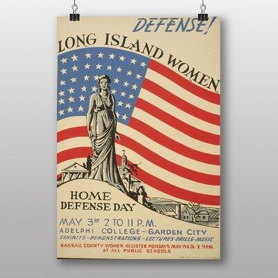 Big Box Art Home Defense Day Vintage Advertisement