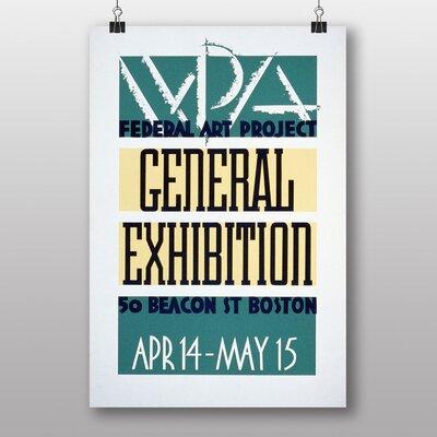 Big Box Art Exhibition No.20 Vintage Advertisement