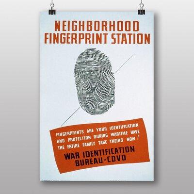 Big Box Art Fingerprint Station Vintage Advertisement