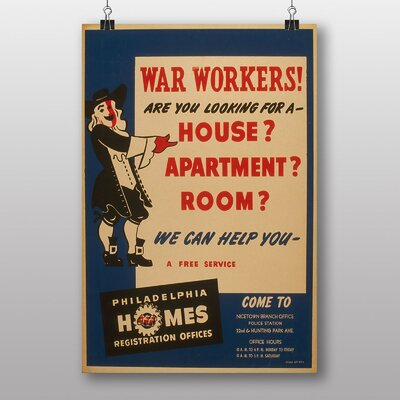 Big Box Art War Workers Vintage Advertisement
