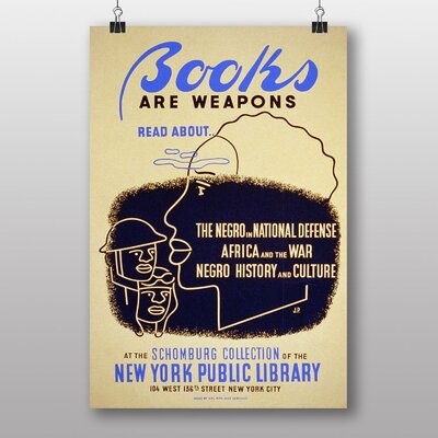Big Box Art Books are Weapons Vintage Advertisement