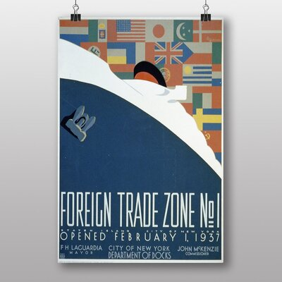 Big Box Art Foreign Trade Zone No.4 Vintage Advertisement