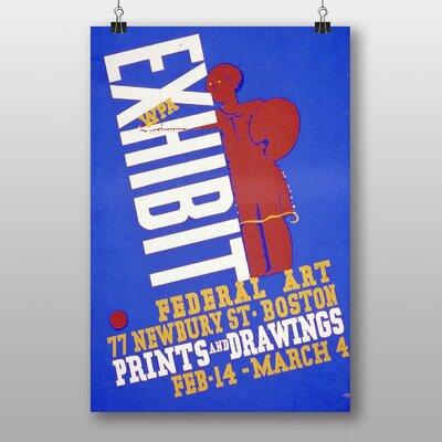 Big Box Art Exhibition No.8 Vintage Advertisement