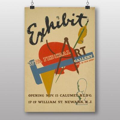 Big Box Art Exhibition No.25 Vintage Advertisement
