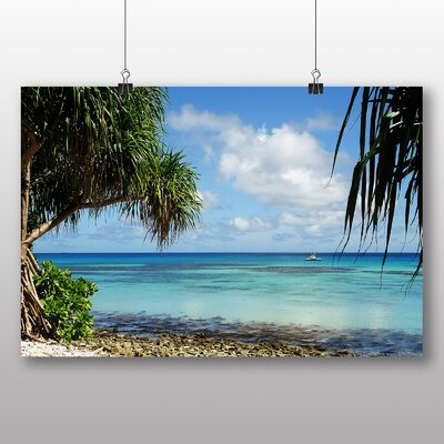 Big Box Art Tuvalu Beach Photographic Print on Canvas