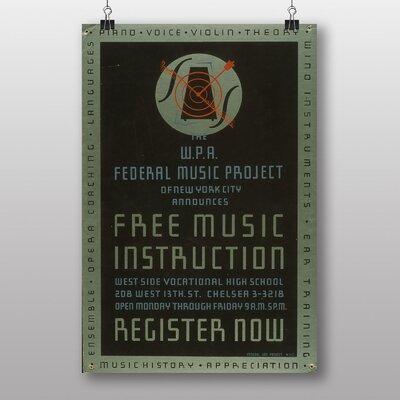 Big Box Art Music Instruction Typography