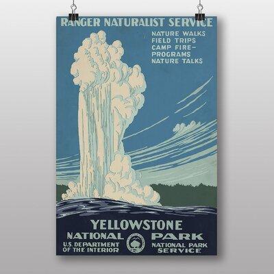 Big Box Art Yellowstone National Park Vintage Advertisement