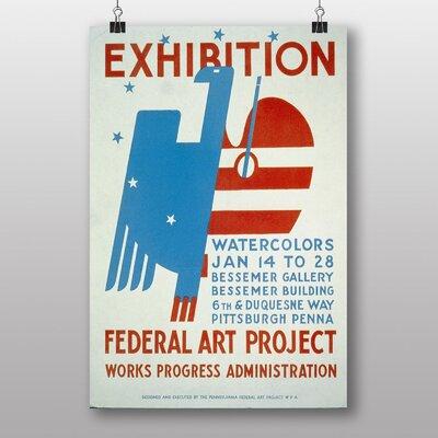 Big Box Art Exhibition No.42 Vintage Advertisement