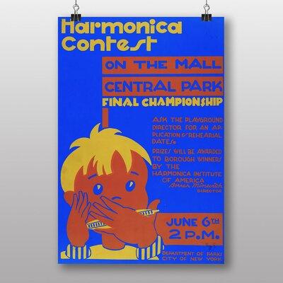 Big Box Art Harmonica Contest Vintage Advertisement