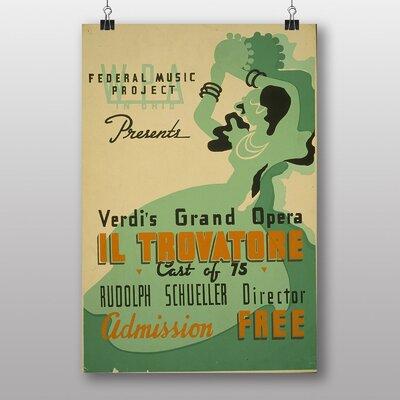 Big Box Art Il Trovatore Vintage Advertisement