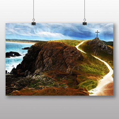Big Box Art Wales Landscape Graphic Art Wrapped on Canvas
