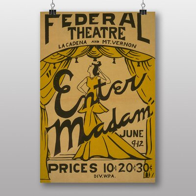 Big Box Art Enter Madam Vintage Advertisement