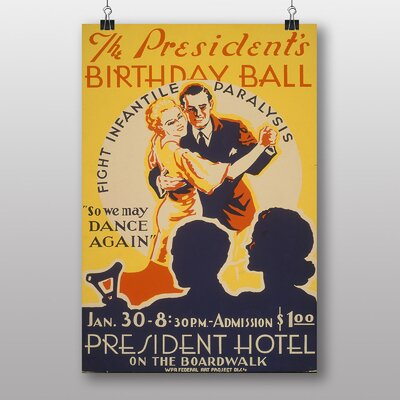 Big Box Art Presidents Birthday Ball Vintage Advertisement
