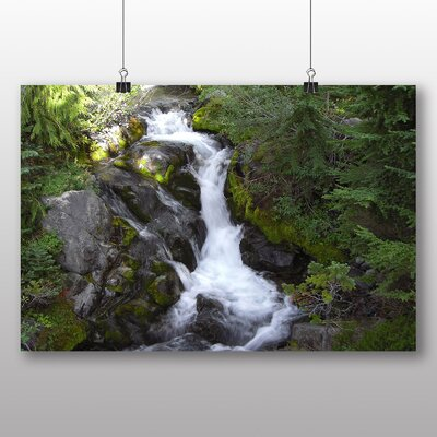 Big Box Art Waterfall No.2 Photographic Print Wrapped on Canvas