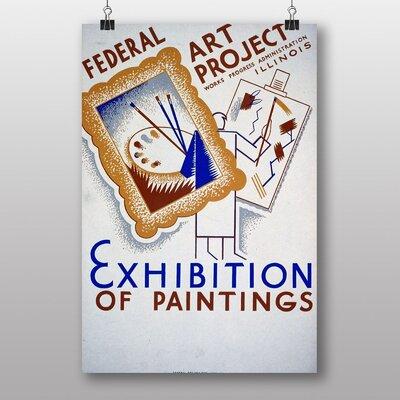 Big Box Art Exhibition No.14 Vintage Advertisement