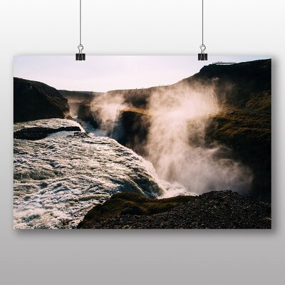Big Box Art Waterfall Photographic Print Wrapped on Canvas