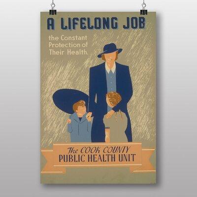 Big Box Art Lifelong Job Vintage Advertisement